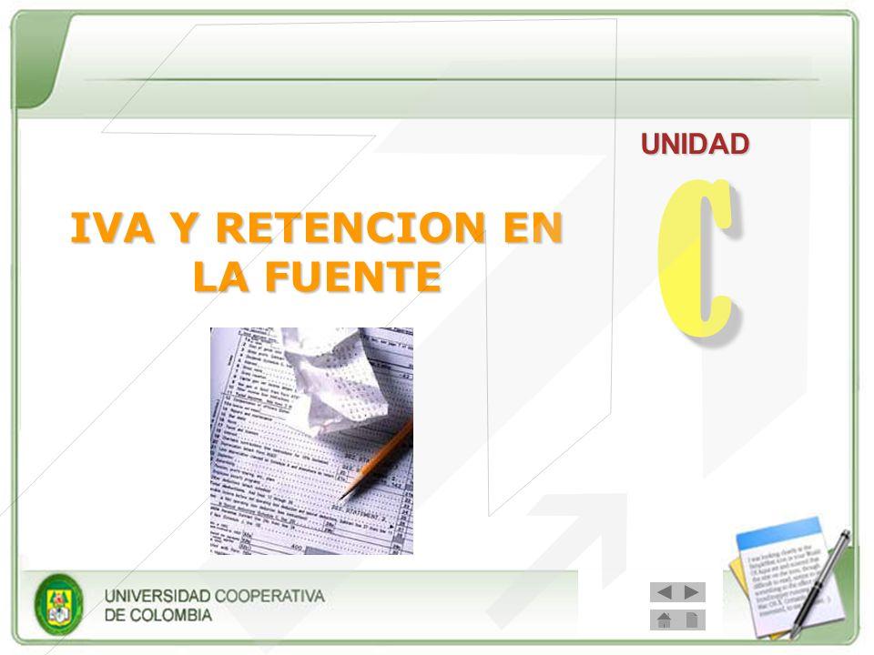 CC UNIDAD IVA Y RETENCION EN LA FUENTE