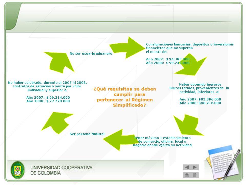 Obligaciones del Régimen Simplificado: - Inscribirse en el Registro Único Tributario RUT - Llevar como costo o gasto en el impuesto de renta el IVA pagado en la adquisición de bienes y servicios.