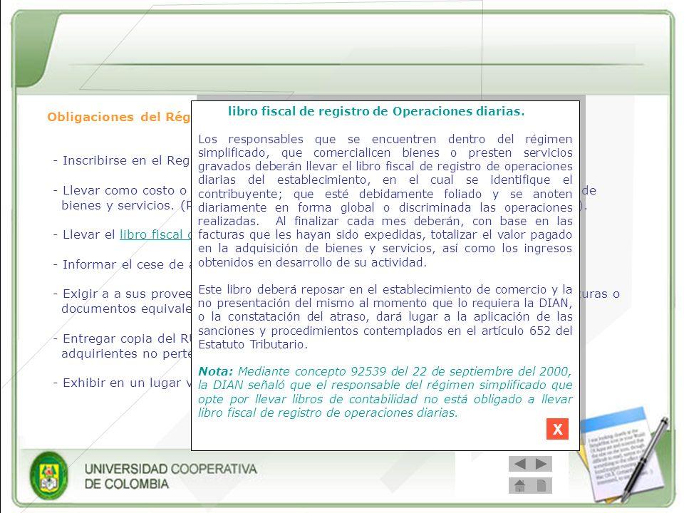 Prohibiciones del Régimen simplificado - Presentar declaración de IVA.