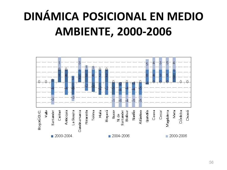 DINÁMICA POSICIONAL EN MEDIO AMBIENTE, 2000-2006 56