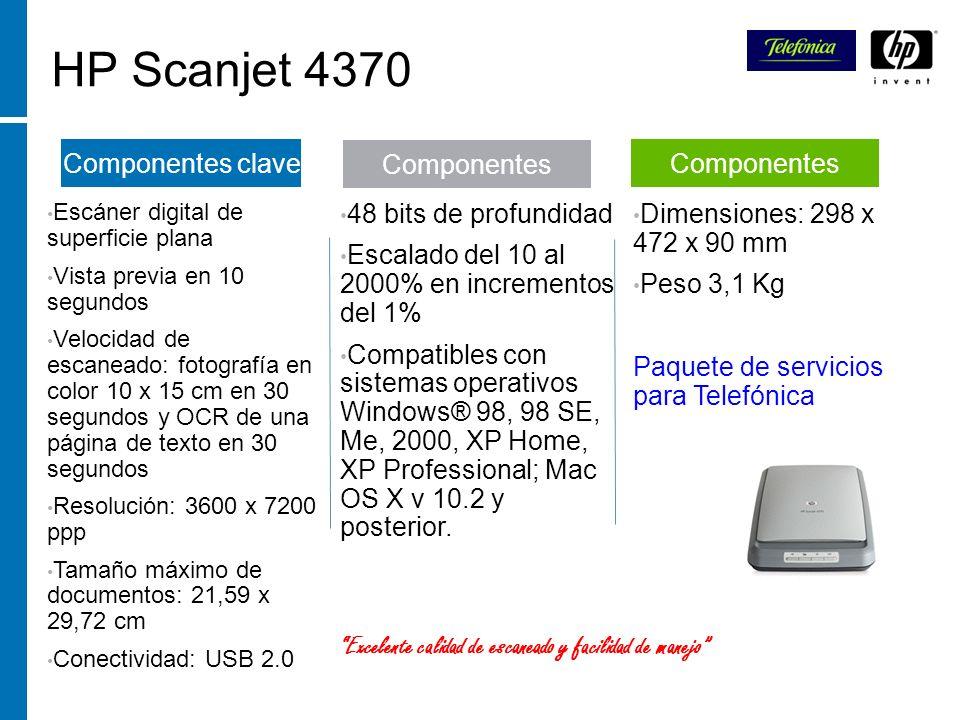 HP Scanjet 4370 Escáner digital de superficie plana Vista previa en 10 segundos Velocidad de escaneado: fotografía en color 10 x 15 cm en 30 segundos