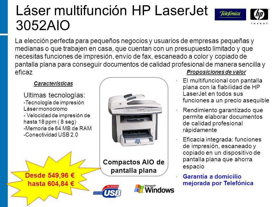 Láser multifunción HP LaserJet 3052AIO La elección perfecta para pequeños negocios y usuarios de empresas pequeñas y medianas o que trabajen en casa,