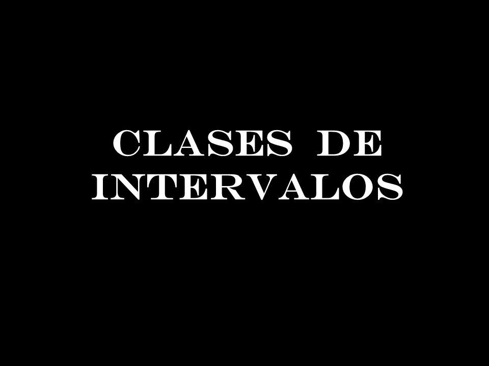 CLASES DE INTERVALOS