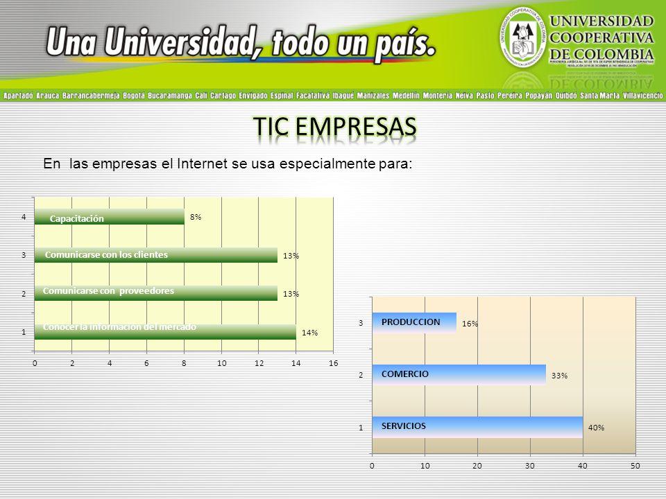 Otros datos relevantes son: Posee un sistema de información Tienen personal capacitado en el uso de TIC