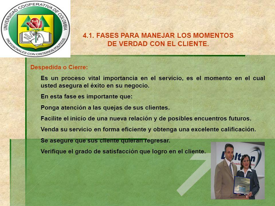 4.2.PAUTAS PARA MANEJAR LOS CLIENTES DIFICILES.