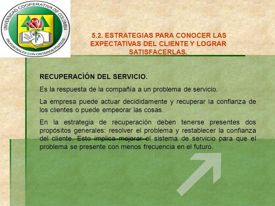 5.3.FORMAS DE AGREGAR VALOR AL SERVICIO.