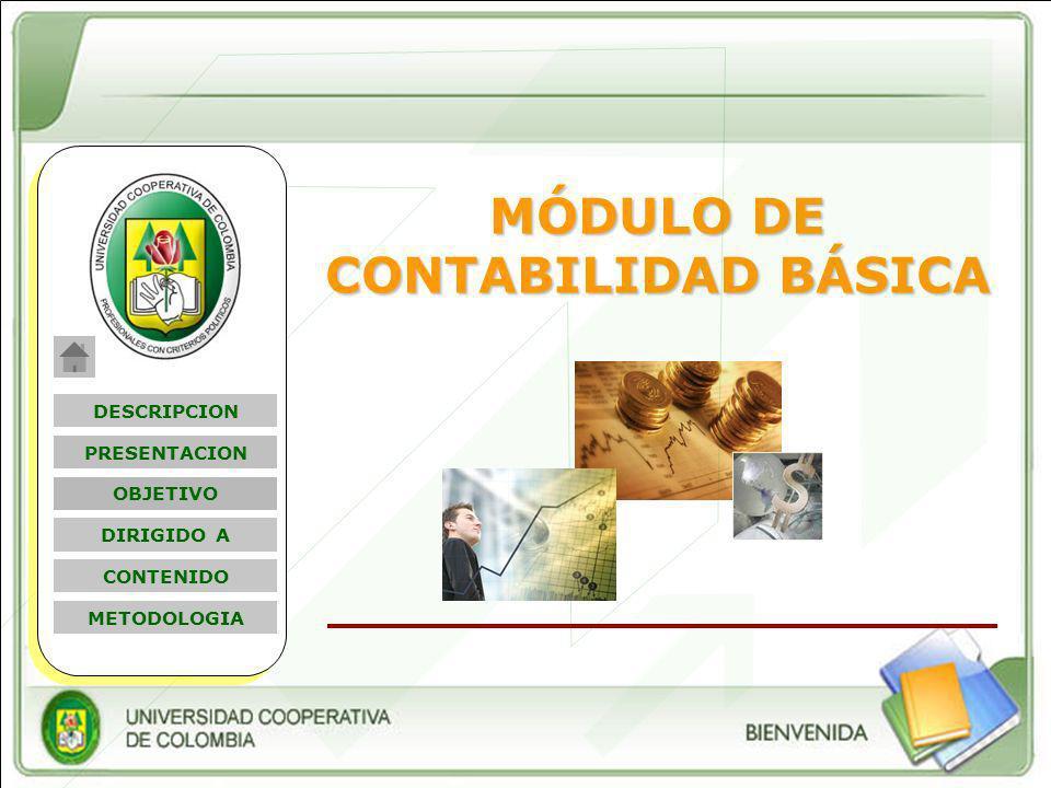 Nombre Módulo MÓDULO DE CONTABILIDAD BÁSICA DESCRIPCION OBJETIVO PRESENTACION DIRIGIDO A CONTENIDO METODOLOGIA