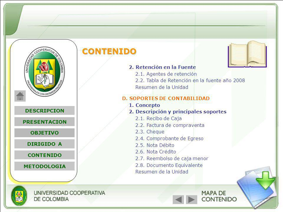 Nombre Módulo D. SOPORTES DE CONTABILIDAD 1. Concepto 2. Descripción y principales soportes 2.1. Recibo de Caja 2.2. Factura de compraventa 2.3. Chequ