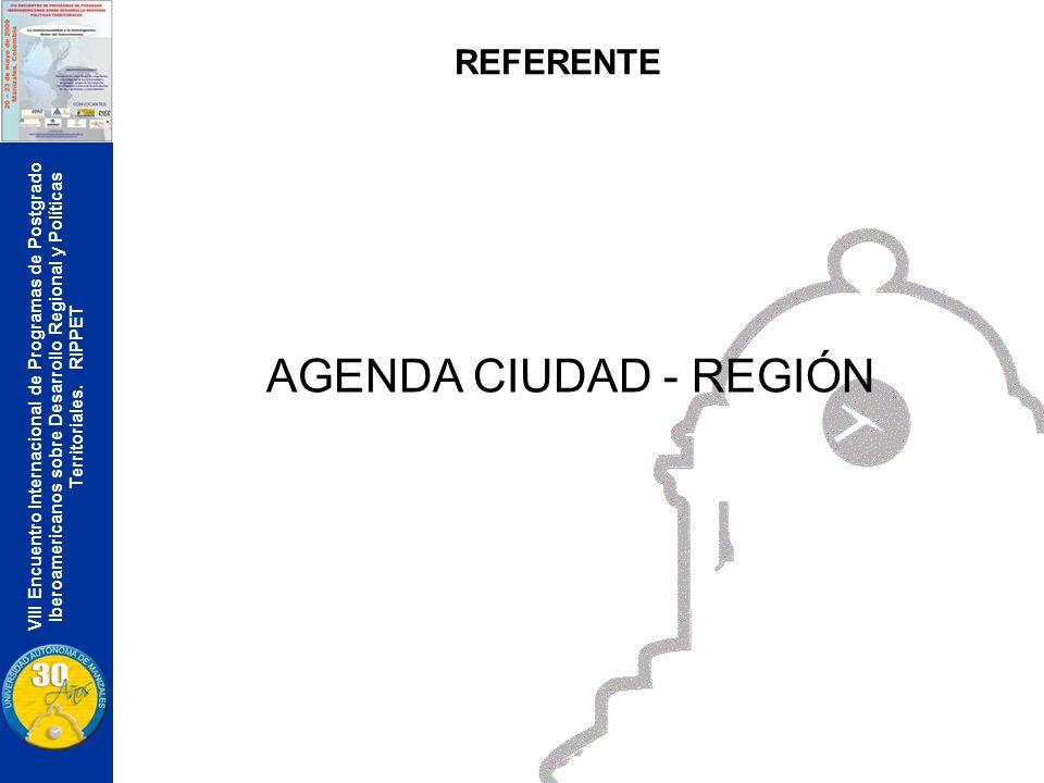 VIII Encuentro Internacional de Programas de Postgrado Iberoamericanos sobre Desarrollo Regional y Políticas Territoriales. RIPPET REFERENTE AGENDA CI