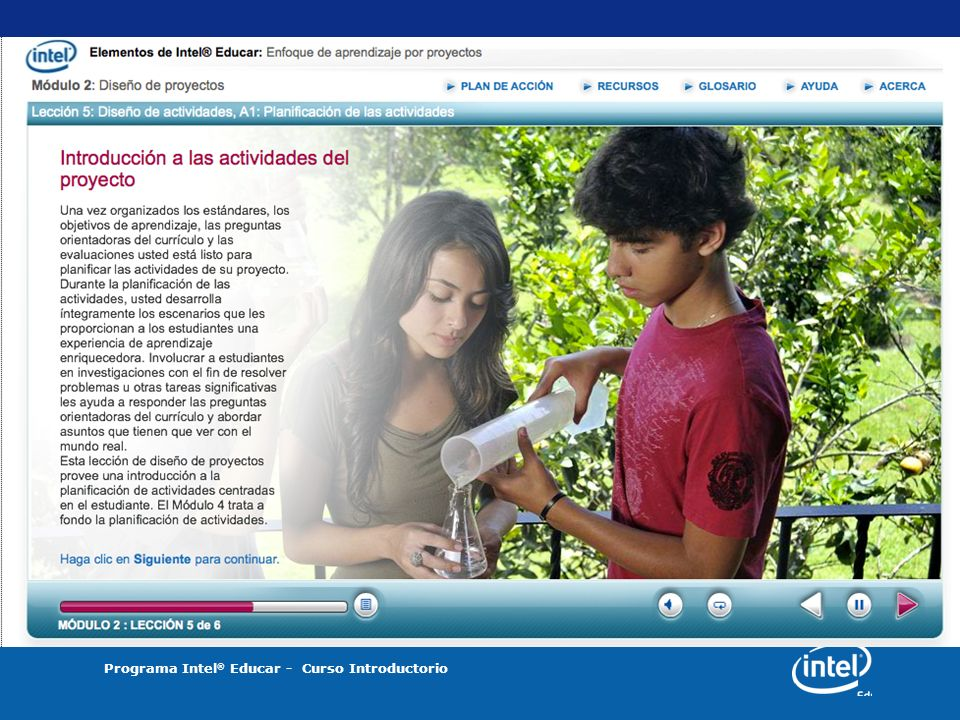 Programa Intel ® Educar - Curso Introductorio