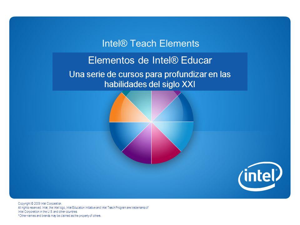 Programa Intel ® Educar - Curso Introductorio 17 Como Docente Participante ud.