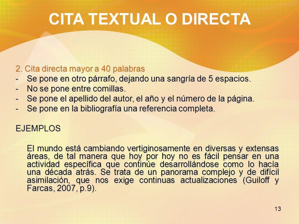 14 CITA TEXTUAL O DIRECTA 2.