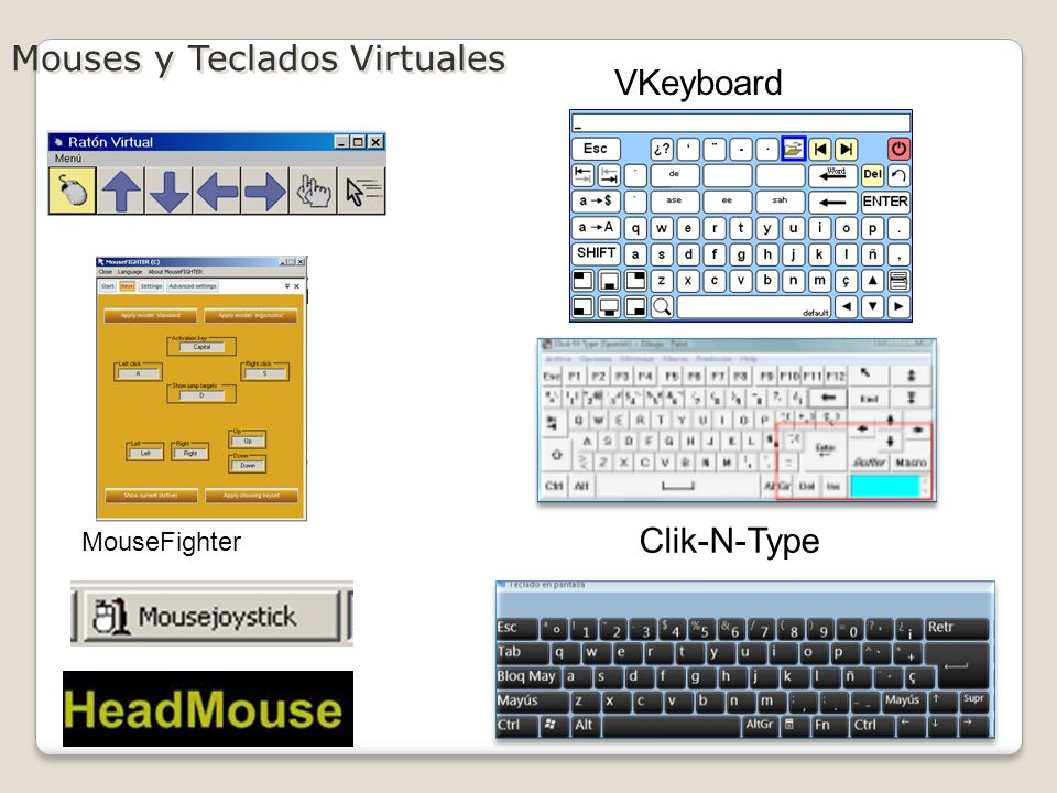 Mouses y Teclados Virtuales VKeyboard Clik-N-Type MouseFighter