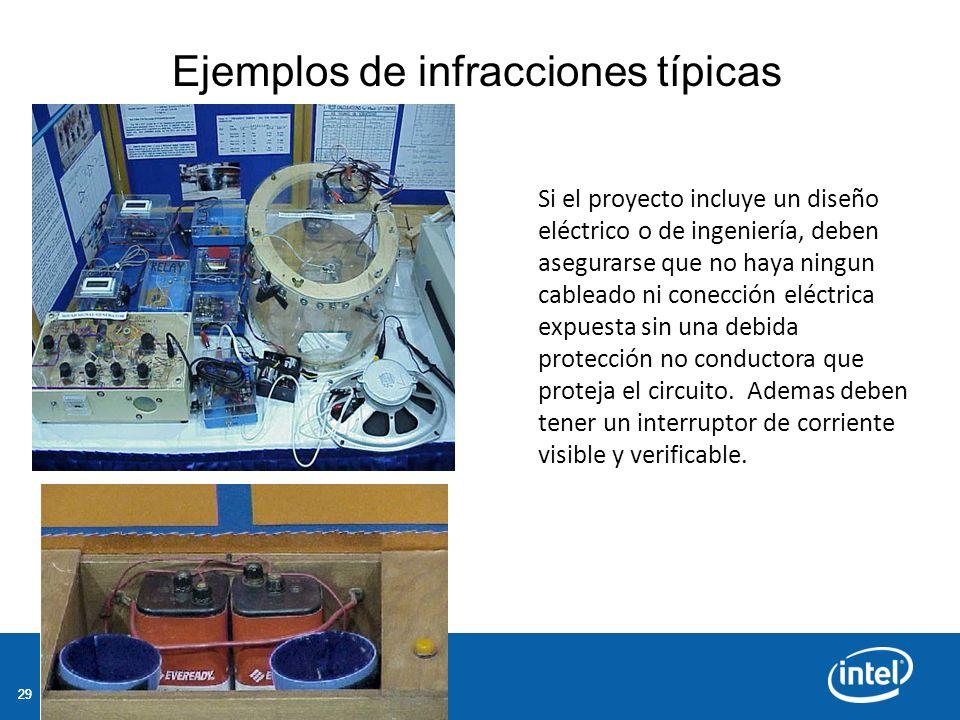 29 Si el proyecto incluye un diseño eléctrico o de ingeniería, deben asegurarse que no haya ningun cableado ni conección eléctrica expuesta sin una debida protección no conductora que proteja el circuito.