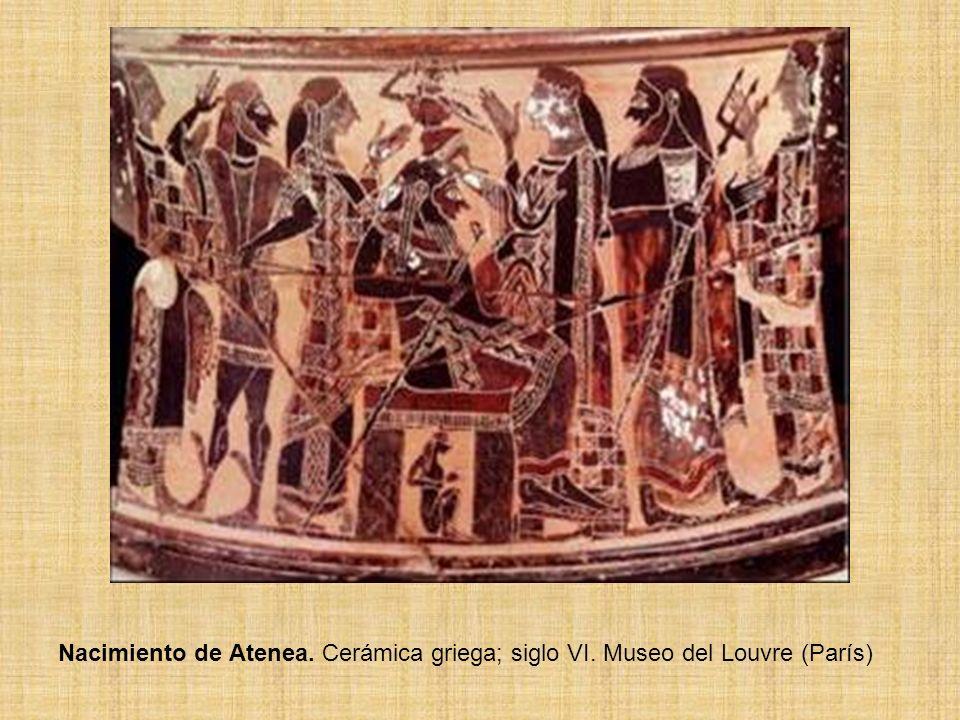 Nacimiento de Atenea. Cerámica griega; siglo VI. Museo del Louvre (París)
