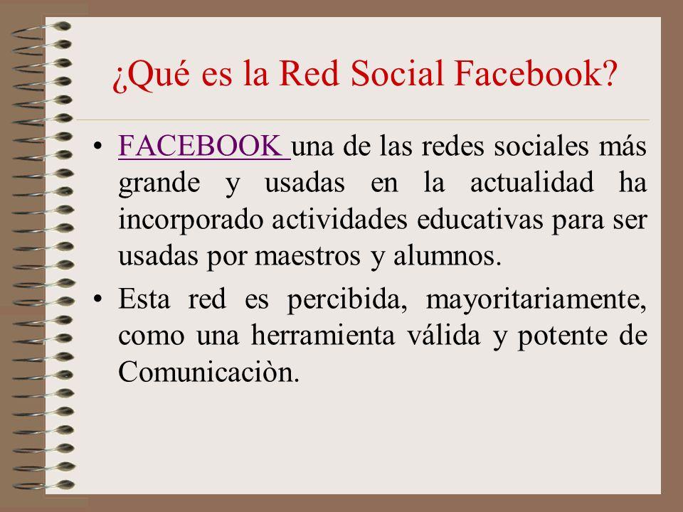 USO PEDAGOGICO Creé en Facebook varios grupos.Usando la opción de Crear un Grupo.