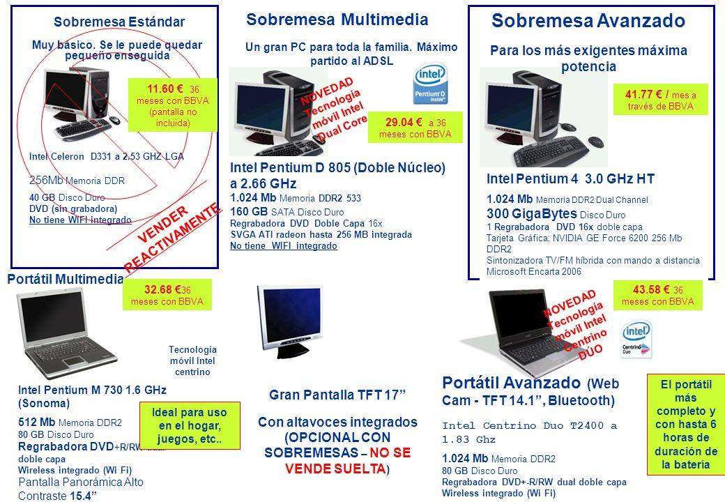 Sobremesa Multimedia Un gran PC para toda la familia.