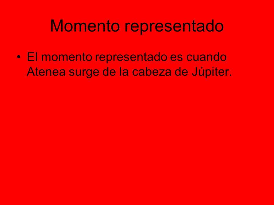 Momento representado El momento representado es cuando Atenea surge de la cabeza de Júpiter.