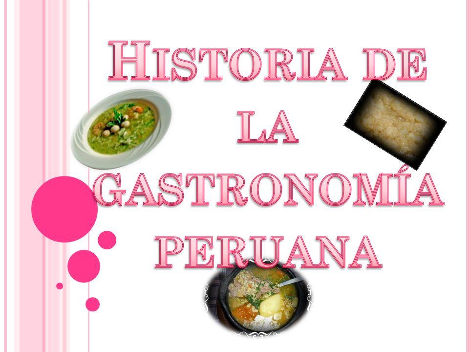La Gastronomía del Perú es de las más diversas del mundo, como lo demuestra el hecho que es uno de los países con mayor número de platos típicos (491), y según varios entendidos alcanza un nivel equivalente al de la comida francesa, china e hindú.