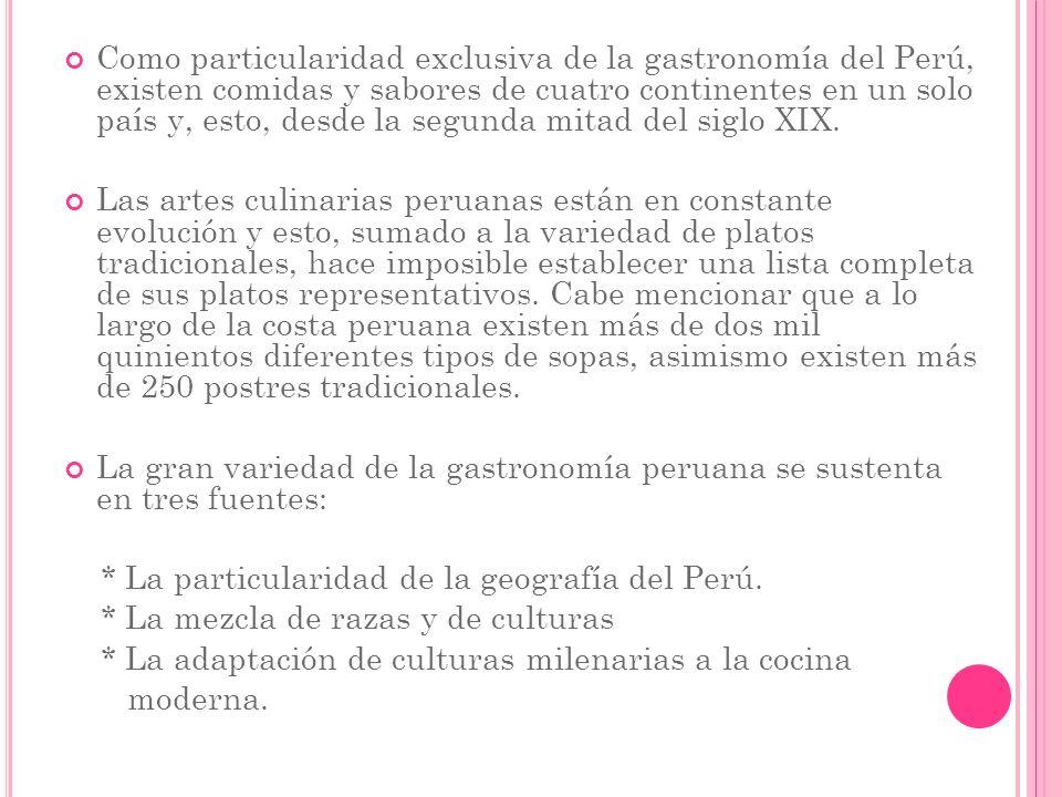 Los Andes centrales peruanos fueron el más grande centro de domesticación de plantas del mundo antiguo, con especies nativas: el maíz, papa, camote, yuca o mandioca, oca, maca; gramíneas, quinua, kiwicha o amaranto, cañihua; frutas como la chirimoya, lúcuma, pacae, tomate, calabaza, palta, saúco, leguminosas como frijoles, pallares, maní y una infinidad de hierbas aromáticas.