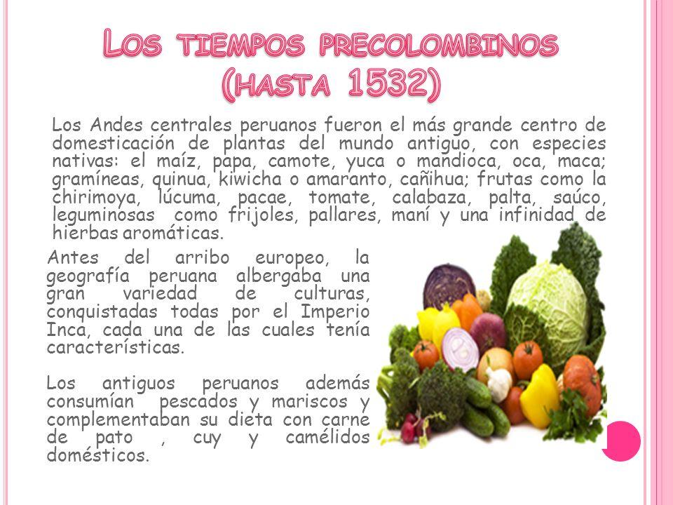 Los Andes centrales peruanos fueron el más grande centro de domesticación de plantas del mundo antiguo, con especies nativas: el maíz, papa, camote, y