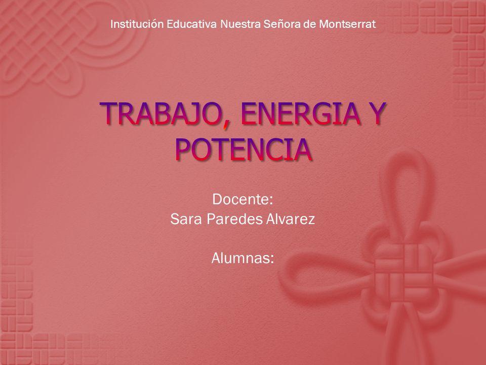 Docente: Sara Paredes Alvarez Alumnas: Institución Educativa Nuestra Señora de Montserrat