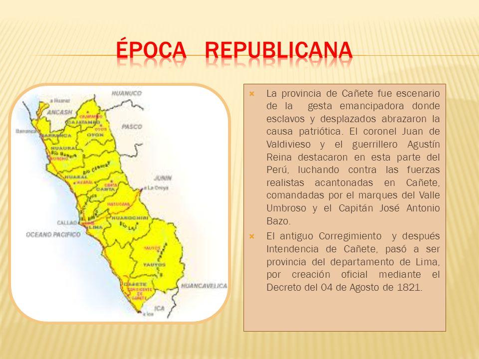 La provincia de Cañete está situada al Sur de la Región Lima, por la panamericana Sur desde el km 58 hasta el km.