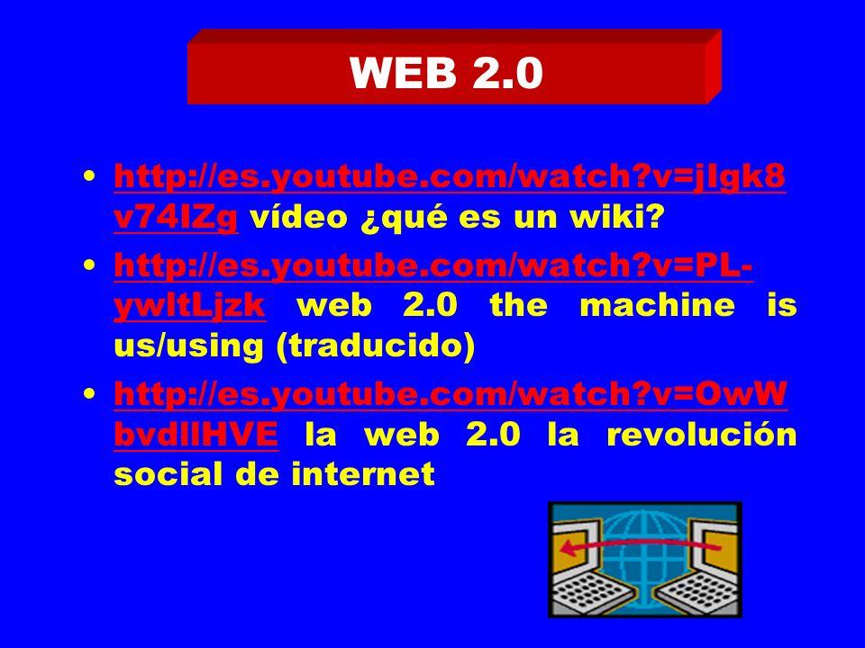 http://es.youtube.com/watch v=jIgk8 v74IZg vídeo ¿qué es un wiki.