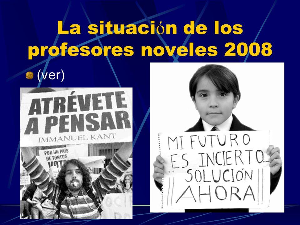 La situaci ó n de los profesores noveles 2008 (ver)