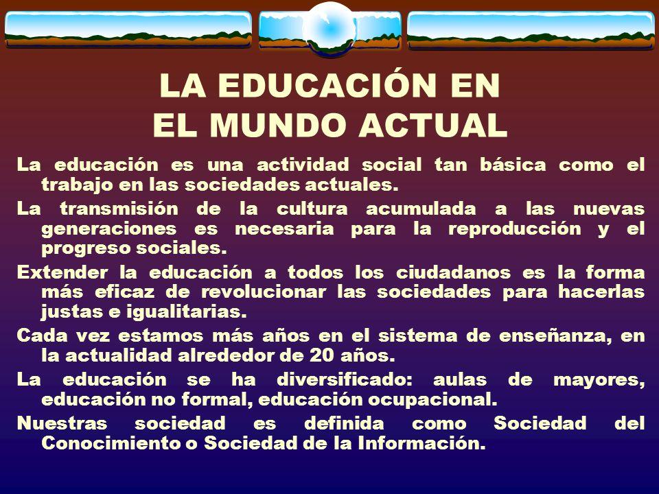 EL CAMPO DE LA SOCIOLOGÍA DE LA EDUCACIÓN LA RELACIÓN ENTRE EDUCACIÓN E IGUALDAD SOCIAL LAS RELACIONES ENTRE EDUCACIÓN Y TRABAJO ESCUELA Y FORMACIÓN DE IDENTIDADES EL PAPEL DE LOS ACTORES O DEL SUJETO CUESTIONES CONCRETAS