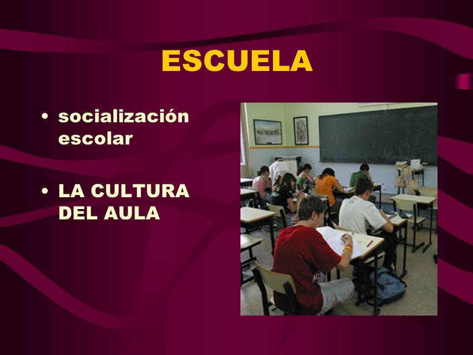 ESCUELA socialización escolar LA CULTURA DEL AULA