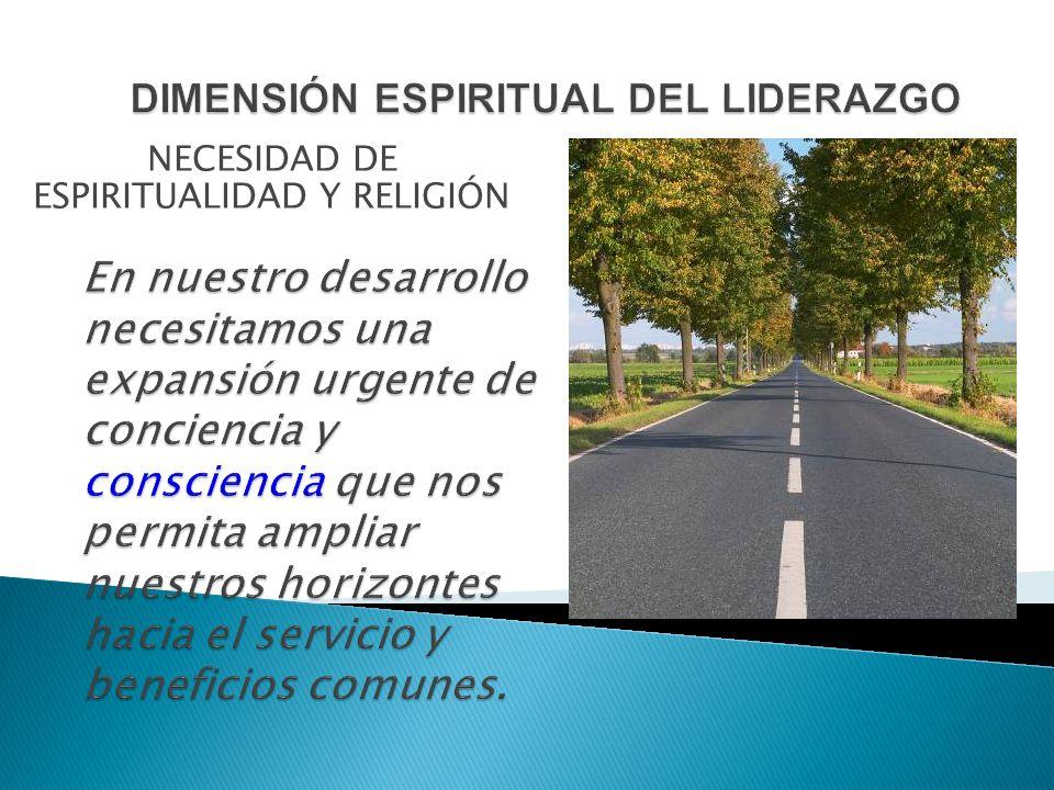 NECESIDAD DE ESPIRITUALIDAD Y RELIGIÓN