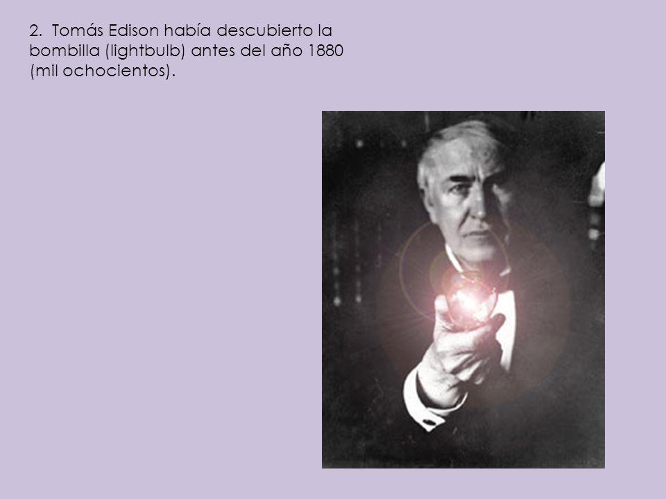 5.Benjamín Franklin había descubierto la electricidad antes del año 1760.