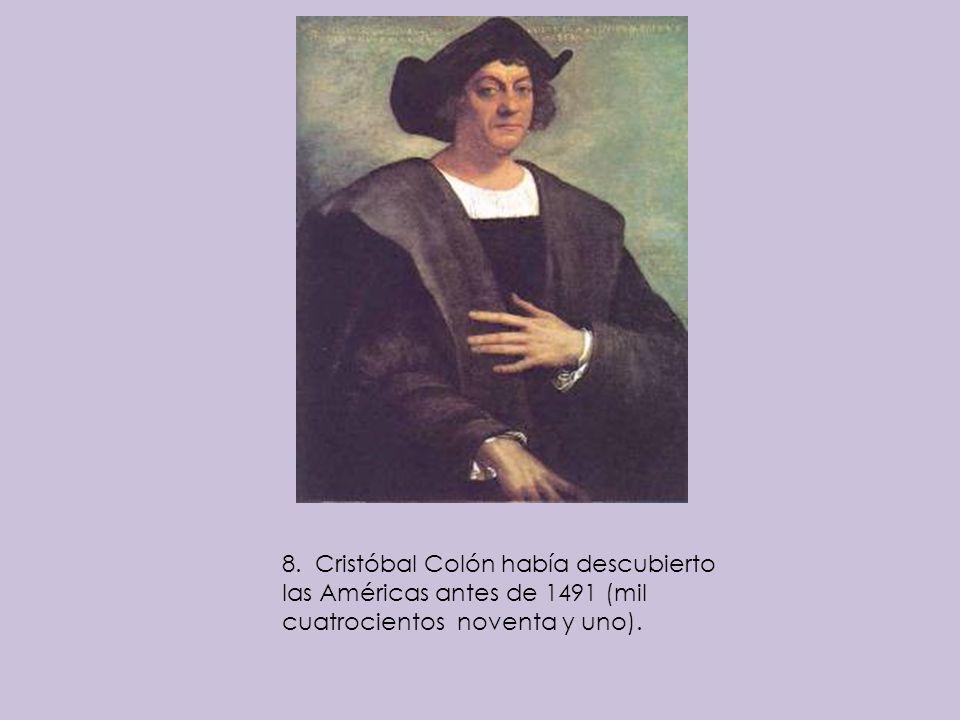 1.México se había proclamado un país independiente antes del año 1820 (mil ochocientos y veinte).