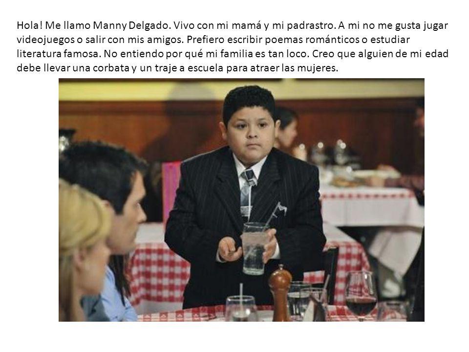 Hola! Me llamo Manny Delgado. Vivo con mi mamá y mi padrastro. A mi no me gusta jugar videojuegos o salir con mis amigos. Prefiero escribir poemas rom