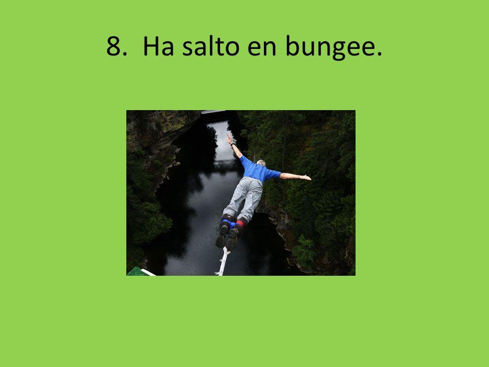 8. Ha salto en bungee.