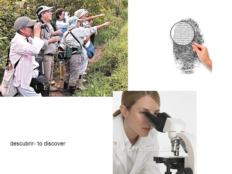 descubrir- to discover