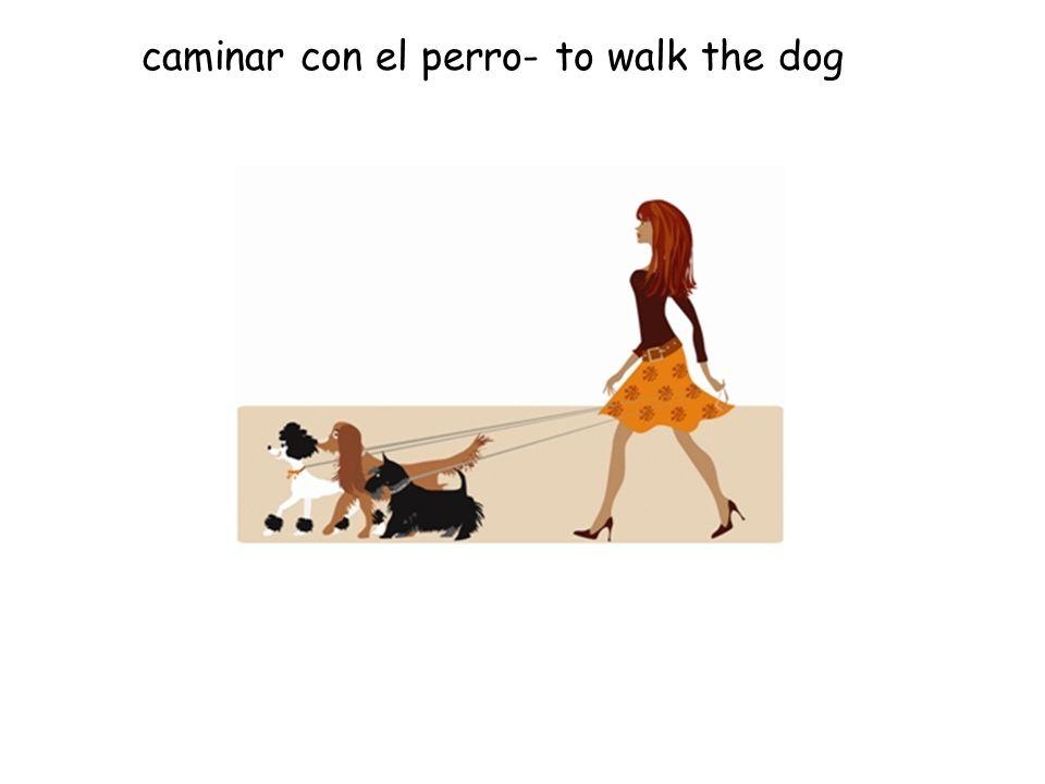 caminar con el perro- to walk the dog