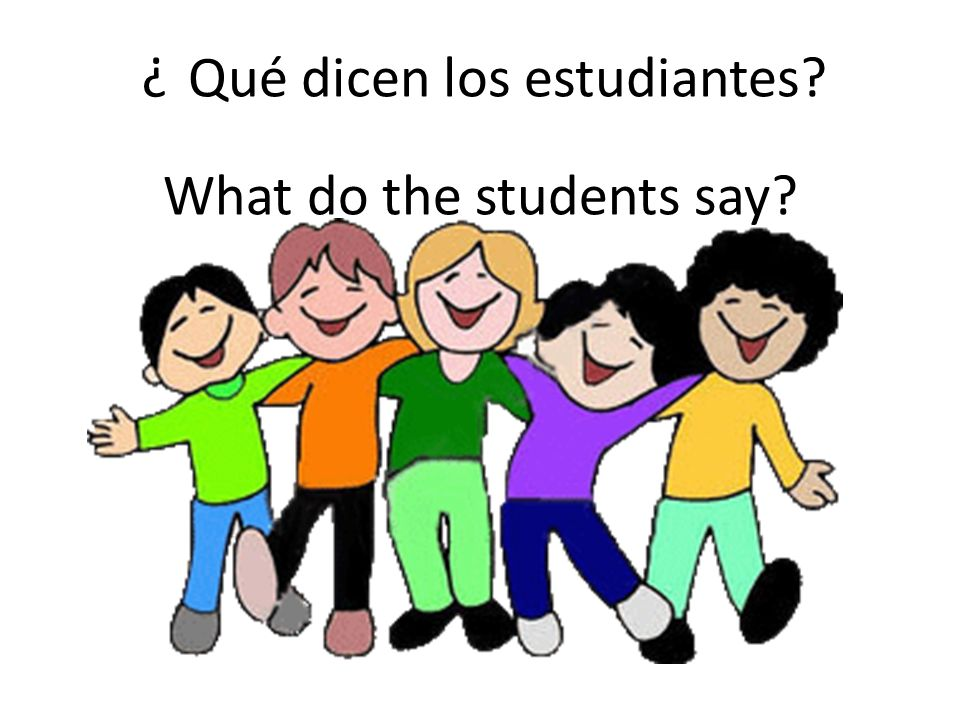 Qué dicen los estudiantes? ? What do the students say?