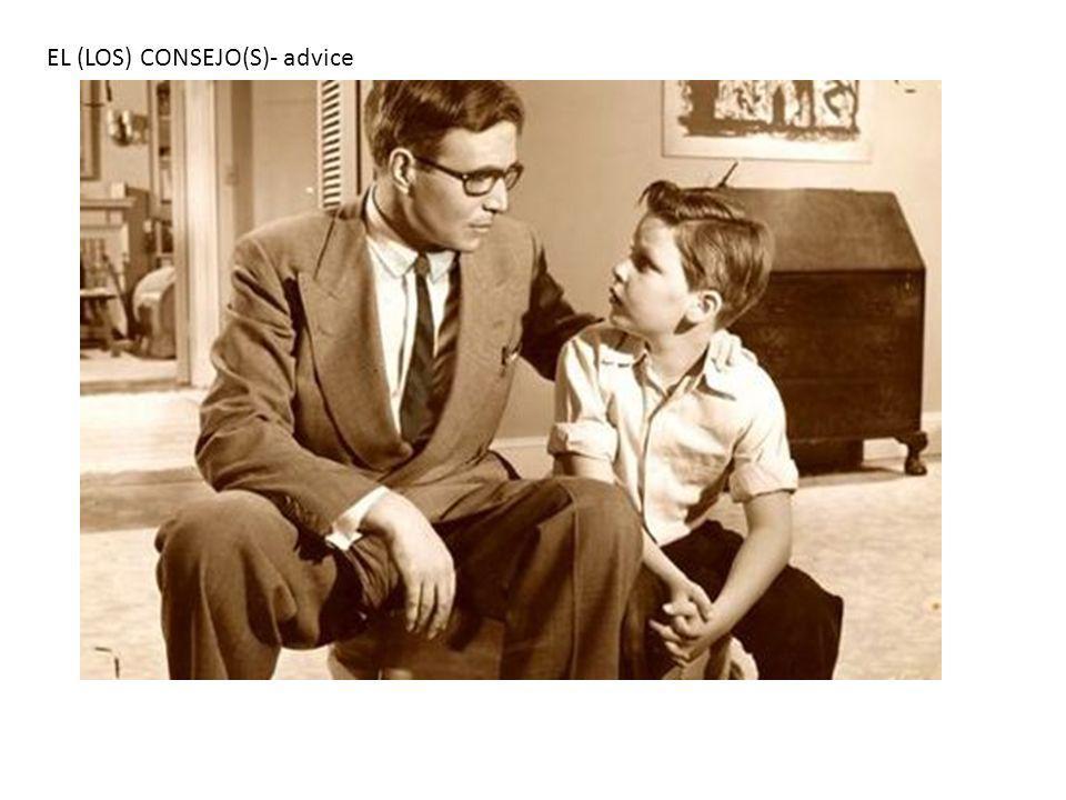 EL (LOS) CONSEJO(S)- advice