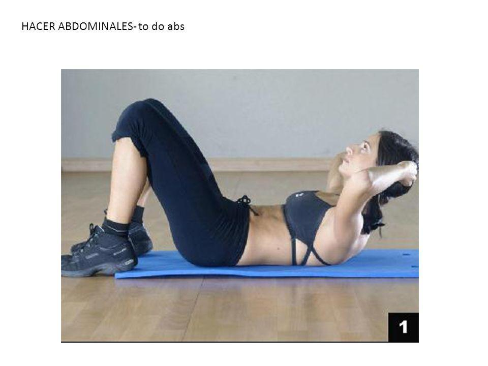 HACER ABDOMINALES- to do abs