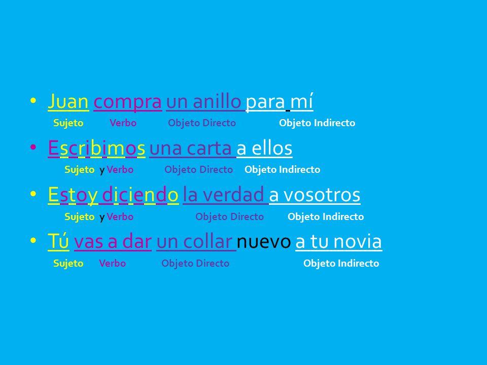 Rewrite #s 1-9 en español with the POIs and PODs enfrente del verbo conjugado.