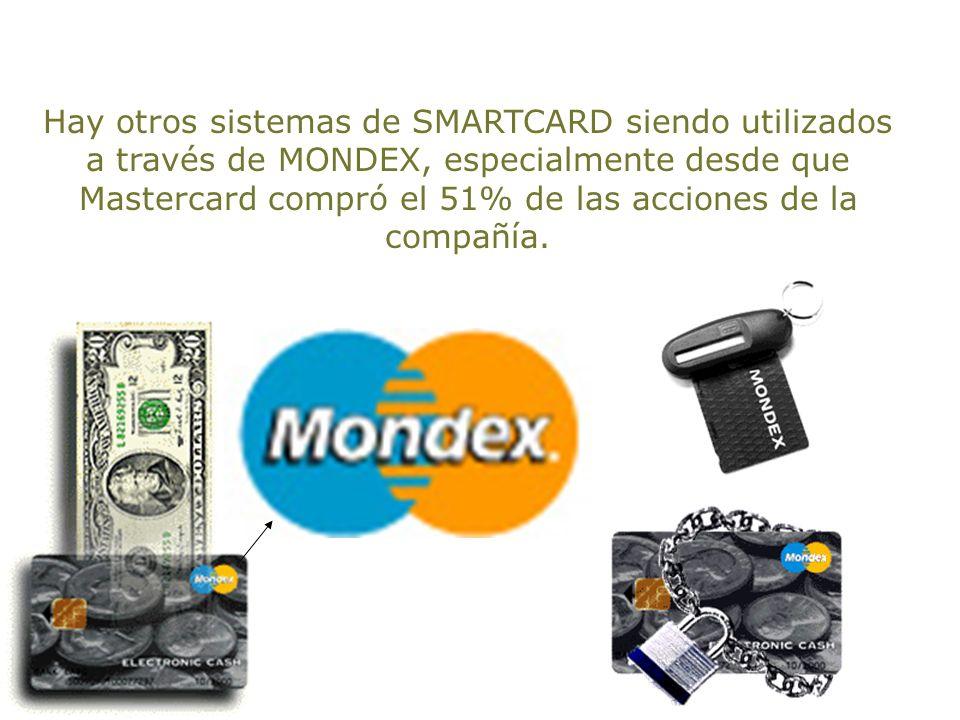 Más de 250 corporaciones y 20 países se implican en la distribución de MONDEX al mundo y muchas naciones tienen el privilegió de utilizar este sistema
