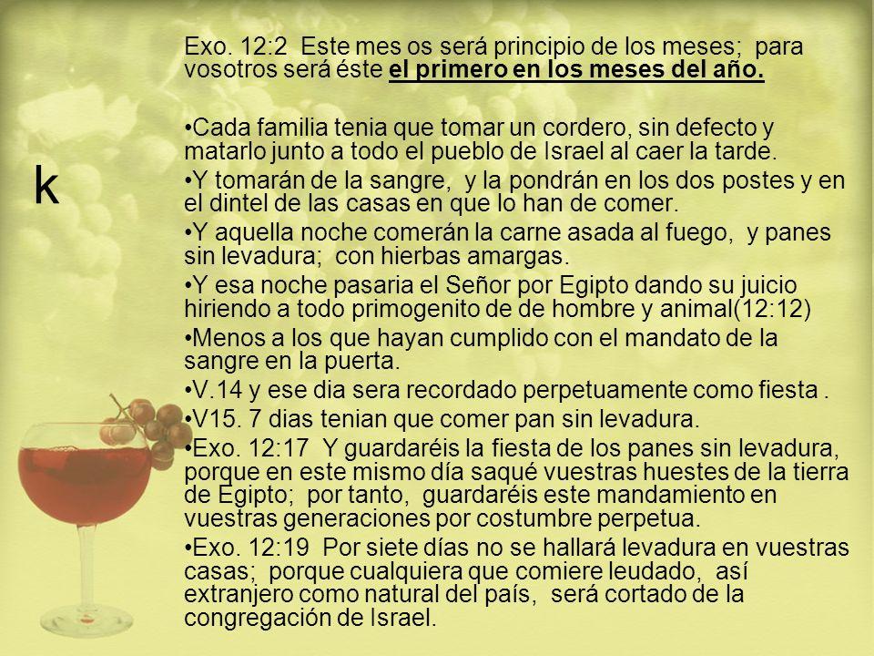 k Por eso como dice: Mat 5:17 No penséis que he venido para abrogar la ley o los profetas; no he venido para abrogar, sino para cumplir.