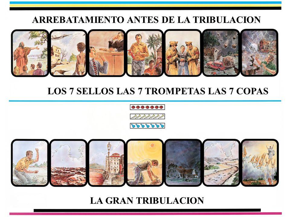 ARREBATAMIENTO ANTES DE LA TRIBULACION LOS 7 SELLOS LAS 7 TROMPETAS LAS 7 COPAS LA GRAN TRIBULACION