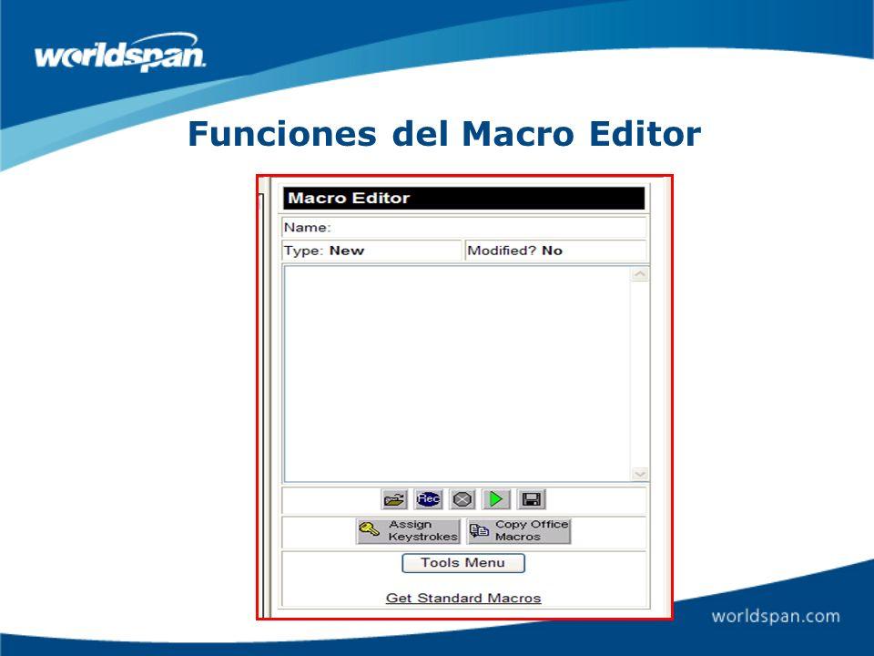 Name Nombre de la Macro Type Office Macro o Personal Macro Modified Si o No Pantalla donde grabará el formato Open: Abrir la carpeta de las macros.