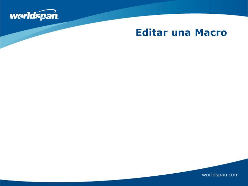 Editar una Macro