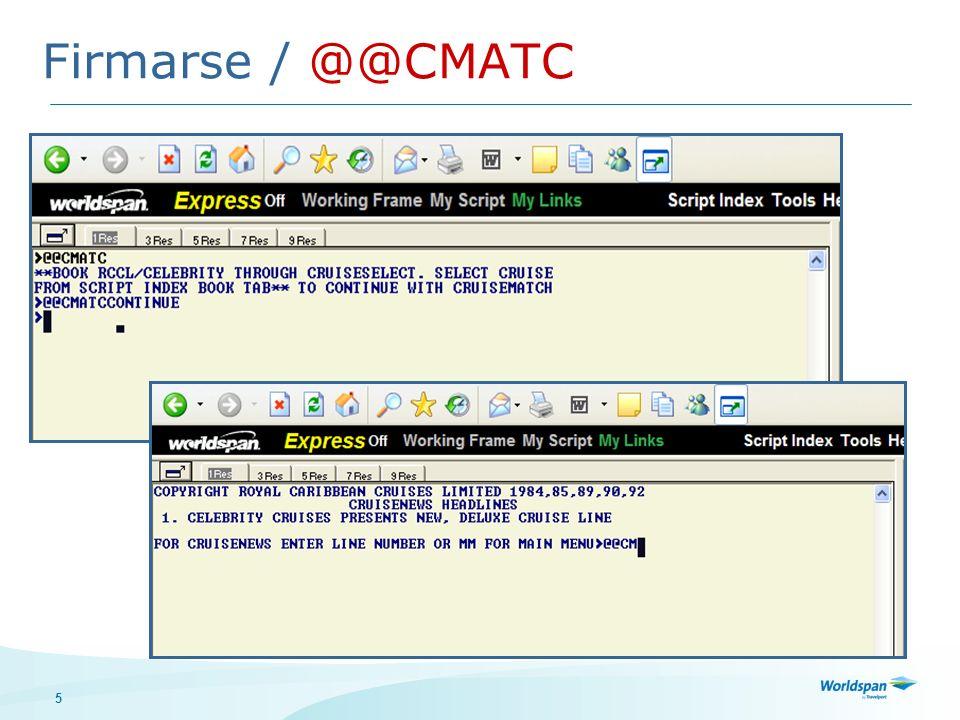 26 Cancelar y/o cambiar servicios especiales @@CM*S El sistema refleja el formato: Número de pasajero/Servicio especial/columna de información (fecha) Modificaciones