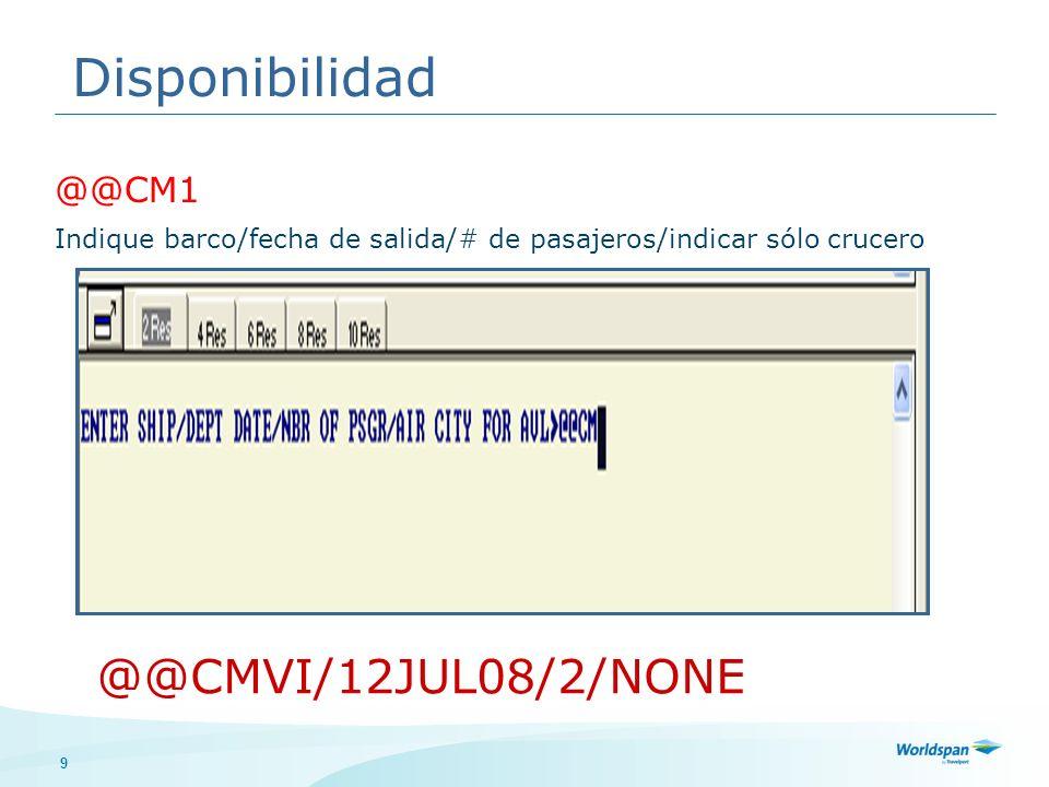 30 Mensajes de la naviera Firmarse en sistema Despliegue sistema de queues Trabaje las queues Queues @@CMQCConteo de queues @@CMQXSalir de queues @@CMQIIgnorar la reserva en queue @@CMQRRemover de la queue
