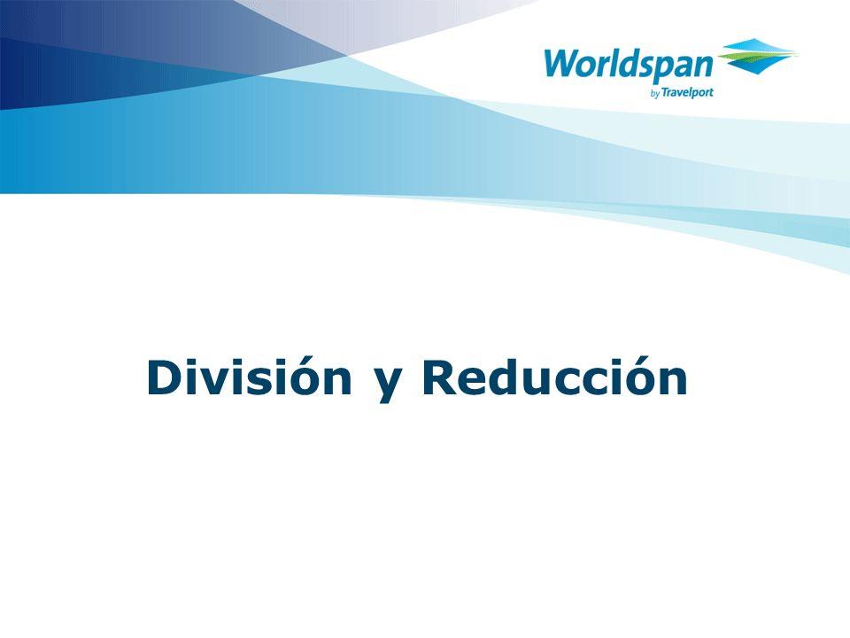 3 Objetivos Al finalizar el curso, el agente de viajes: Identificará cuando aplicar la división o la reducción Procesará una División Procesará una reducción.